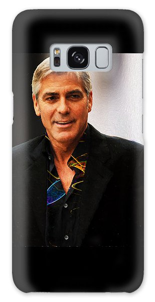 George Clooney Painting Galaxy Case