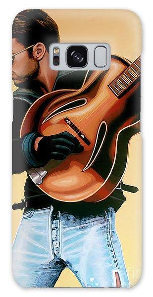 George Michael Painting Galaxy Case by Paul Meijering