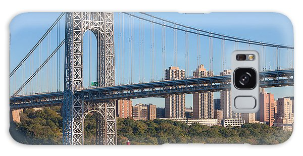 George Washington Bridge And Lighthouse II Galaxy Case
