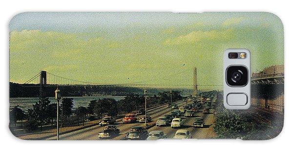 Galaxy Case featuring the photograph George Washington Bridge  by Cole Thompson