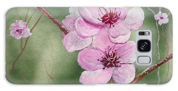 Georgia Peach Blossoms Galaxy Case
