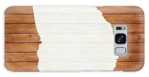 Traveler Galaxy Case - Georgia Rustic Map On Wood by Dan Sproul