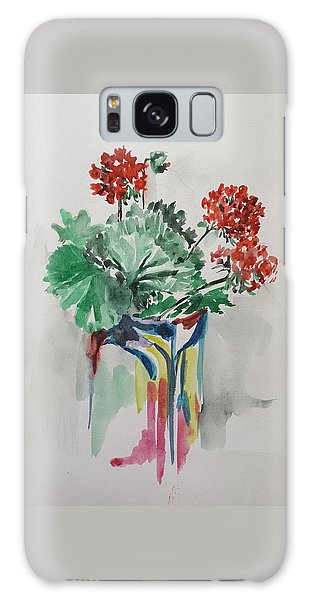 Geraniums Galaxy Case by Rita Fetisov