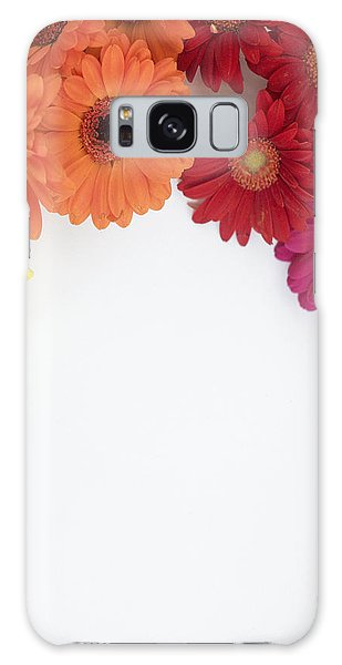 Gerbera Blooms Framed Galaxy Case