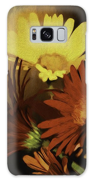 Gerbera Daisies Painterly Galaxy Case by Diane Schuster