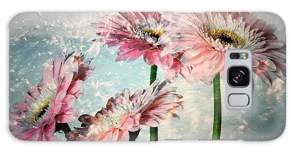 Gerbera Daisies With A Splash Galaxy Case