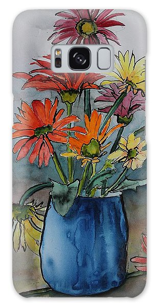 Gerberas In A Blue Pot Galaxy Case