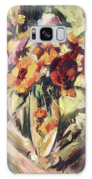 Gerberas In Glass Vase Galaxy Case