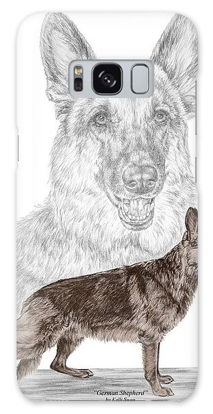 German Shepherd Art Print - Color Tinted Galaxy Case