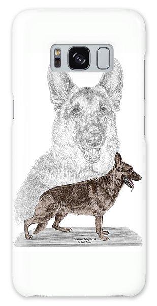 German Shepherd Art Print - Color Tinted Galaxy Case by Kelli Swan