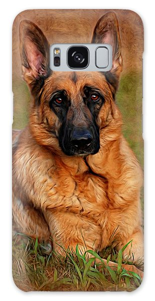 German Shepherd Dog Portrait  Galaxy Case