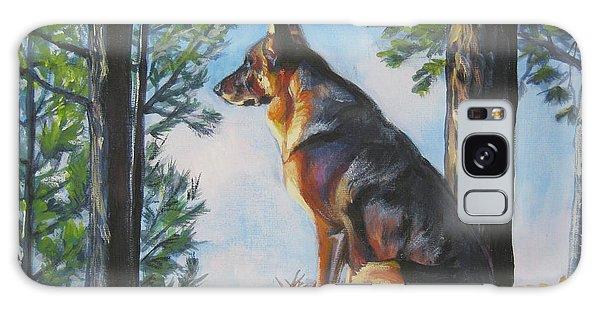 German Shepherd Lookout Galaxy Case by Lee Ann Shepard