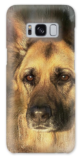 German Shepherd Portrait Color Galaxy Case