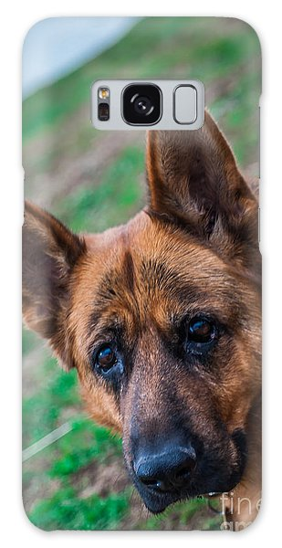 German Shepherd Profile Galaxy Case