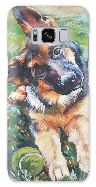 Tennis Galaxy S8 Case - German Shepherd Pup With Ball by Lee Ann Shepard