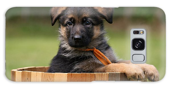 German Shepherd Puppy In Planter Galaxy Case