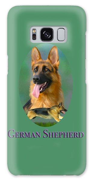 German Shepherd With Name Logo Galaxy Case