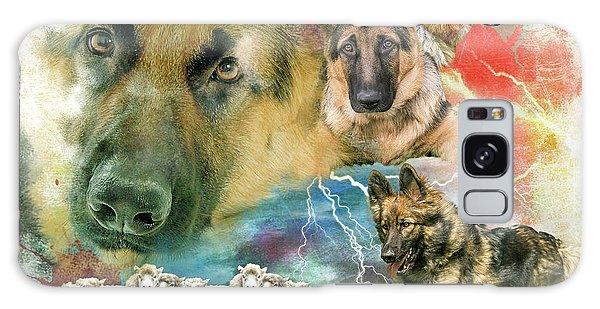 German Shepherd Collage Galaxy Case