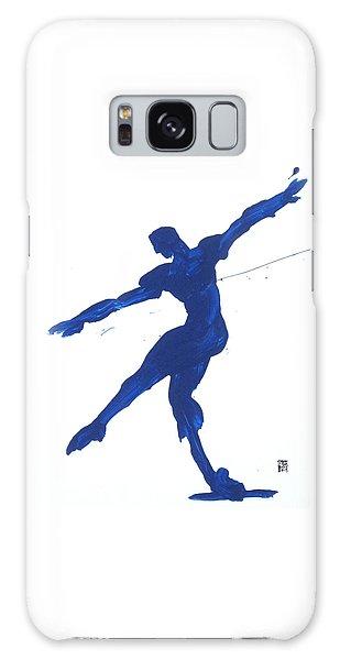 Gesture Brush Blue 2 Galaxy Case