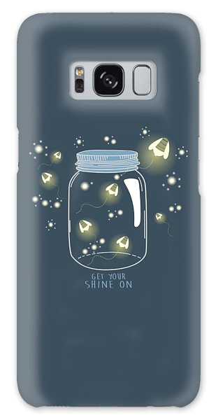 Get Your Shine On Galaxy Case by Heather Applegate