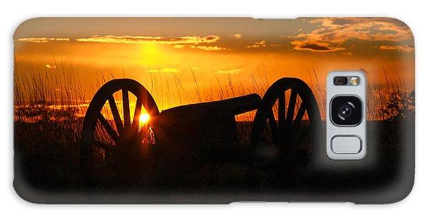 Gettysburg Cannon Sunset Galaxy Case by Randy Steele