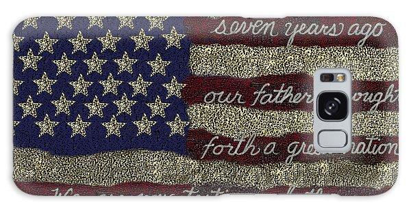 Us Civil War Galaxy Case - Gettysburg Homage Flag by Carol Jacobs
