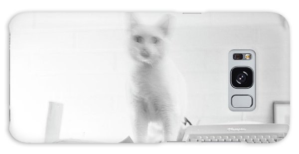 Ghost Cat, With Typewriter Galaxy Case