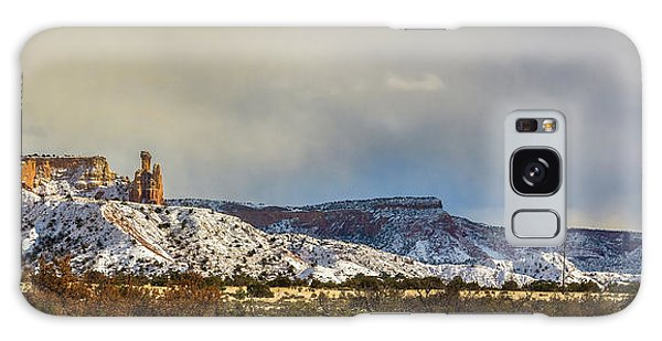 Galaxy Case featuring the photograph Ghost Ranch In Winter by Lou  Novick
