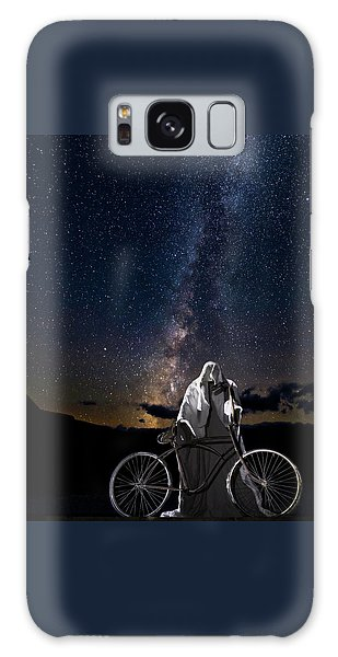 Galaxy Case featuring the photograph Ghost Rider Under The Milky Way. by James Sage