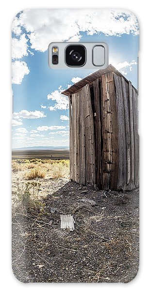 Ghost Town Outhouse Galaxy Case