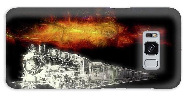 Galaxy Case featuring the digital art Ghost Train by John Haldane