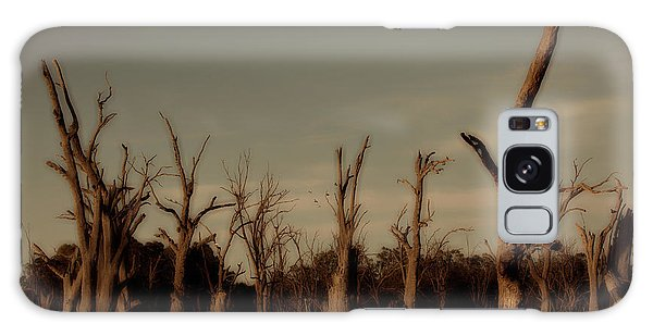 Ghostly Trees Galaxy Case by Douglas Barnard