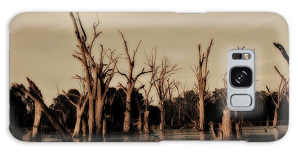 Ghostly Trees V2 Galaxy Case by Douglas Barnard