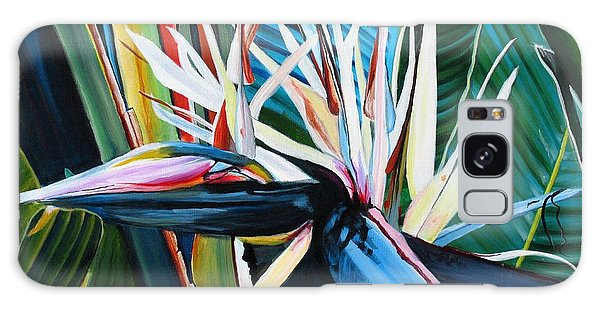 Giant Bird Of Paradise Galaxy Case by Marionette Taboniar