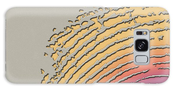 Pop Art Galaxy Case - Giant Iridescent Fingerprint On Beige by Serge Averbukh