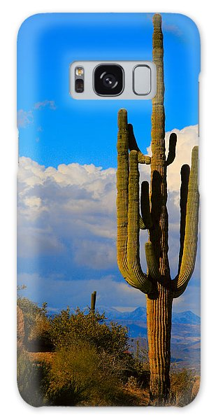 Giant Saguaro In The Southwest Desert  Galaxy Case