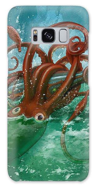 Giant Squid And Nautilus Galaxy Case