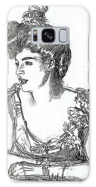 Beautiful Girl Galaxy Case - Gibson Girl, 1902 By Charles Dana Gibson by Charles Dana Gibson