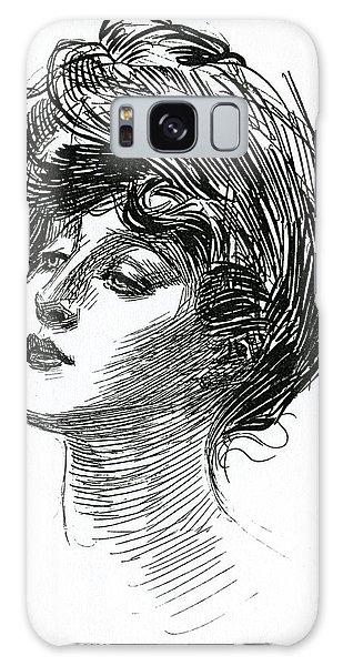 Beautiful Girl Galaxy Case - Gibson Girl 1902 by Charles Dana Gibson