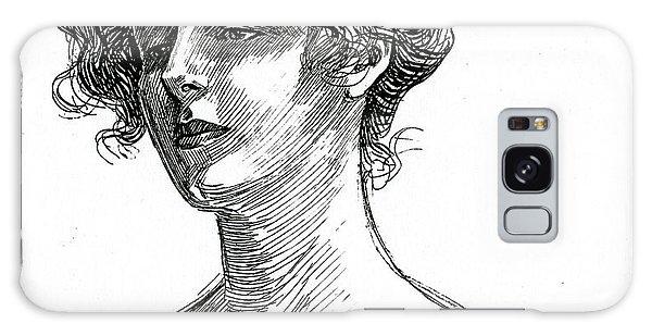 Beautiful Girl Galaxy Case - Gibson Girl Circa 1902 by Charles Dana Gibson