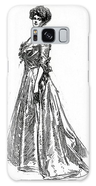 Beautiful Girl Galaxy Case - Gibson Girl From 1902 by Charles Dana Gibson