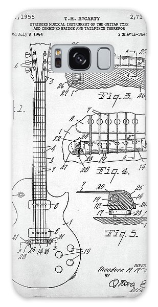 Gibson Les Paul Electric Guitar Patent Galaxy Case by Taylan Apukovska