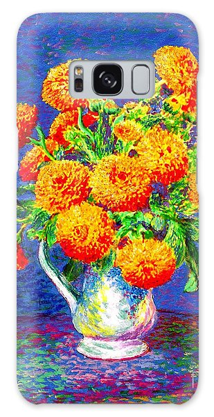 Healing Galaxy Case - Gift Of Gold, Orange Flowers by Jane Small