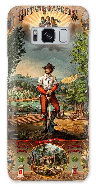 Gift For The Grangers 1873 Victoiran National Grange Agriculture Promotional Art Galaxy Case