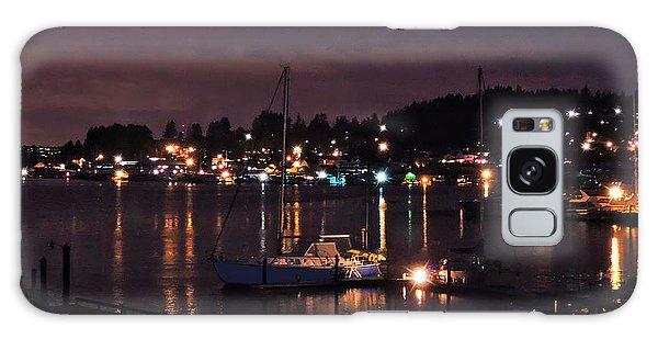 Gig Harbor At Night Galaxy Case