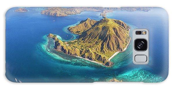 Galaxy Case featuring the photograph Gili Lawa Island Panoramic From Above by Pradeep Raja PRINTS