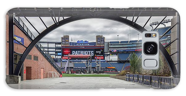 Gillette Stadium And The Four Super Bowl Banners Galaxy Case