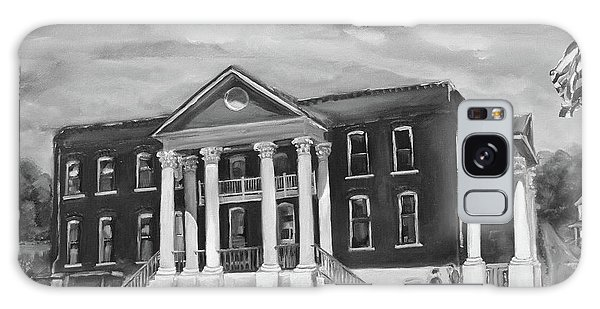 Gilmer County Old Courthouse - Black And White Galaxy Case