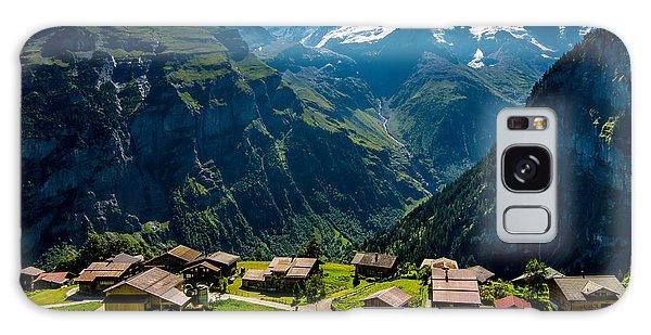 Gimmelwald In Swiss Alps - Switzerland Galaxy Case