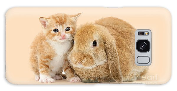 Ginger Kitten And Sandy Bunny Galaxy Case